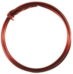 Fil d'aluminium, Dim. (øxL): 2 ..., rouge