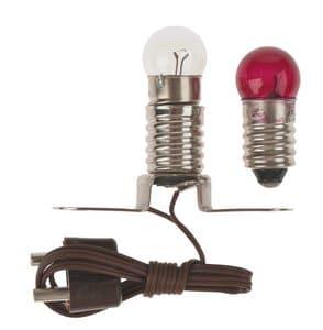 Beleuchtungsset E10 (Stegfass. + 2 Lämp. rot/klar)