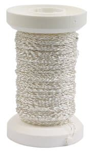 Effektdraht (0,25 mm), 50 m silber