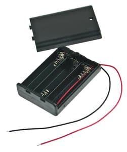Caja para 3 pilas Mignon, (4,5 V)