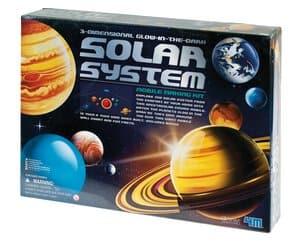 3D-Demonstration Sonnensystem nachtleuchtend