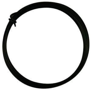 Aluminiumdraad ø 2 mm, 3 mtr, zwart