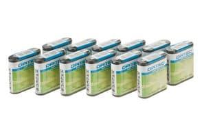 OPITEC Flachbatterie, 12 Stück 4,5 V
