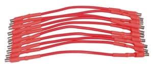 Magneetkabels, 150 mm lang, rood, 10 stuks