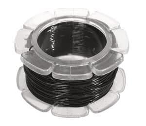 Fil nylon élastique, Diam. 0,6 m..., noir