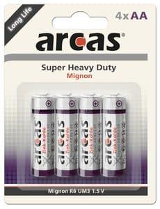 Batterijen (AA) Super Heavy Duty R06, 4 stuks