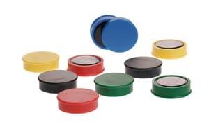 Farbmagnetset, 10 Stück in 5 Farben (25 x 7 mm)