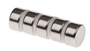 Magnete Neodym, 5 Stück Scheibenform (15 x 6 mm)