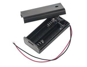 Support de pile 2 x AA LR6 avec interrupteur