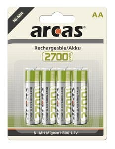 Piles rechargeables Ni-Mh , Accus AA-LR...,