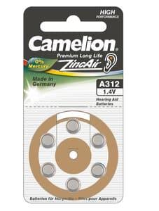 Camelion ZincAir knoopcel batterijen, 6 stuks