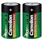 Camelion super HD batterij 1,5V mono (R20) 2 stuks