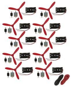 OPITEC Elektromotor-Set Luftschraube u. Schalter