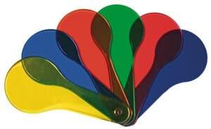 Acrylkaarten - kleuren mengen (150 mm) 6 stuks