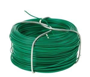 Binddraad (1 mm) 5 m met groen kunststof omhuld