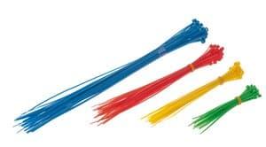 Kabelbinders set, 4 kleuren, 100 stuks