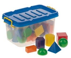 Box met vormen, kleurrijk, 36-delig