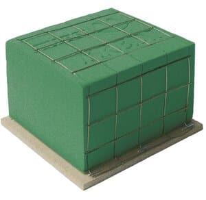 Steekschuim/oase - nat (11 x 11 x 8 cm) groen