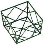 Kunststof bak geometrisch raster (12x12x8cm) groen