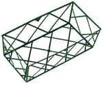 Kunststof bak geometrisch raster (24x12x8cm) groen