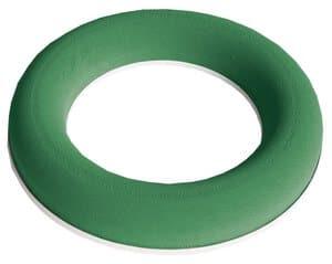 Nass-Steckschaumkranz, 2 Stück grün (20 x 2,5 cm)