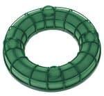 Nass-Steckschaumring mit Gitter, grün (20x3,5 cm)
