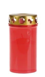 Bougie longue durée EIKA N°3, rouge/doré