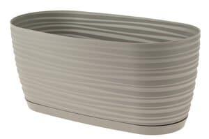 Kunststoff-Jardiniere, hellgrau (270x120x120 mm)