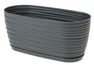 Kunststoff-Jardiniere, anthrazit (270x120x120 mm)