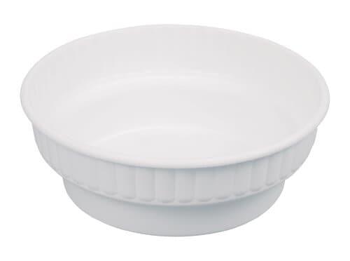 Plastic Bloempot Wit.Kunststof Bloempot Schaal 100 X 20 Mm Wit Opitec
