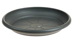 Kunststoff-Untersetzer, anthrazit  (180 mm)