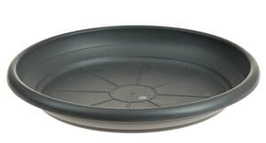Kunststoff-Untersetzer, anthrazit  (240 mm)