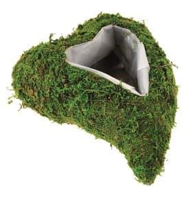 Coeur en mousse pour plantes, 260 x 180 x 70 mm