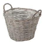 Weidenkorb, grau  (30 x 21 cm)