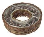 Corbeille anneau en osier, 400 x 120 mm, marron