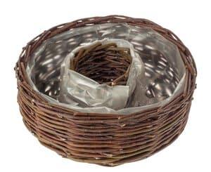 Corbeille anneau en osier, 310 x 110 mm, marron