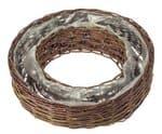 Corbeille anneau en osier, 490 x 120 mm, marron