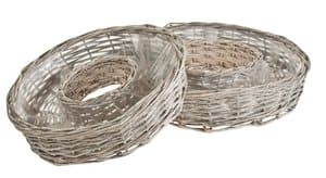 Corbeille anneau osier, 400 mm/500 mm, gris