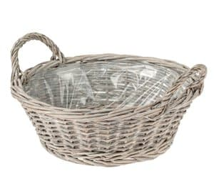 Corbeille en osier, 300 x 110 mm, gris