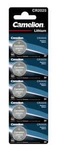Pile bouton Camelion®,  3 V CR2025, 5 pièces