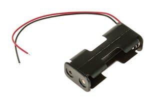 Portapilas 2 x Mignon (AA) UM3 con cable