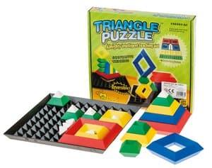 Triangle Puzzle avec plaque support, 24 éléments