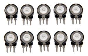 Regulador blindado-potenciómetro (10 kOhm) 1 ud.