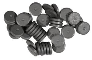 Aimants ronds, A incruster d..., 50 pièces