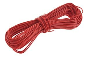 Fil de câblage monobrin (Fil Y), rouge