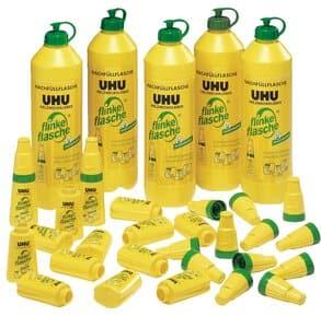 UHU alleslijm - 5 x 850 g + 20 lege flessen