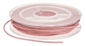Koord van imitatieleer (1 mm x 5 m) roze