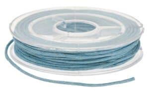 Imitations-Lederschnur,  5 m hellblau  (1 mm)