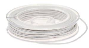 Imitations-Lederschnur,  5 m weiß       (1 mm)