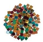 Spiegelsteine, 125 g Buntmix (10 x 10 mm)